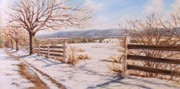 Snow Scene Painting Originals - Snow Covered Fields by Michele Tokach