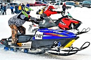 Ski Racing Art Prints - Snow Drags - 1 Print by Don Mann