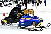 Ski Racing Art Prints - Snow Drags - 11 Print by Don Mann