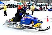 Winter Sports Picture Prints - Snow Drags - 12 Print by Don Mann