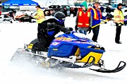 Ski Racing Art Prints - Snow Drags - 13 Print by Don Mann