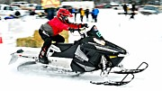 Ski Racing Art Prints - Snow Drags - 15 Print by Don Mann