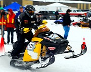 Winter Sports Picture Prints - Snow Drags - 4 Print by Don Mann