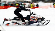 Ski Racing Art Prints - Snow Drags - 5 Print by Don Mann
