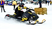 Ski Racing Art Prints - Snow Drags - 6 Print by Don Mann