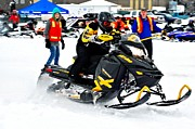 Ski Racing Art Prints - Snow Drags - 8 Print by Don Mann