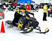 Winter Sports Picture Prints - Snow Drags - 9 Print by Don Mann