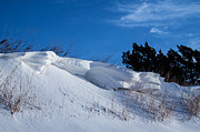 Snow Drifts Photos - Snow Drift and Blue Skies by Jim McCain