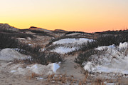 Catherine Reusch Daley Fine Artist Photos - Snow Dunes Sunset  by Catherine Reusch  Daley