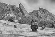 James Bo Insogna - Snow Dusted Flatiron View Boulder Colorado BW