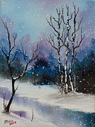 Snow Fall Magic II Print by C Steele