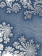 Snowflake Digital Art Posters - Snow Flurries  Poster by Heidi Smith