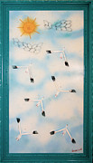 Upcycled Reliefs - Snow Geese Return by Crush Creations