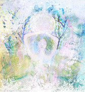 Goddess Paintings - Snow Goddess by Sacred  Muse