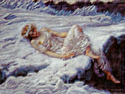 Goddess Digital Art Mixed Media - Snow Guardain by Michael Knight