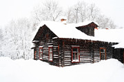 Winter Scenery Prints - Snow Home Print by Jenny Rainbow