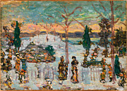 Famous Artists - Snow in April by Maurice Brazil Prendergast