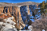 Colorado National Parks Prints - Snow In The Black Canyon Print by Adam Jewell