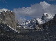Tunnel View Framed Prints - Snow Kissed Valley Framed Print by Bill Gallagher