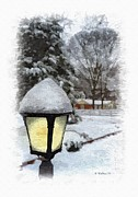 Brian Wallace - Snow Lamplight - Paint...