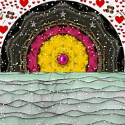 Winter Landscape Mixed Media - Snow Love Pop Art by Pepita Selles