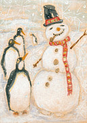 Andrea LaHue - Snow Man And Penguins