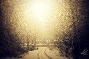 Winter Roads Prints - Snow on Snow Print by Deena Otterstetter