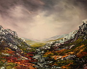 Jean Walker Paintings - Snow on the Cairngorms by Jean Walker