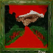 Log Cabin Art Paintings - Snow On The Rocks by Jim  Furlong