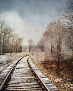 Train Tracks Framed Prints - Snow on the Tracks Framed Print by Jai Johnson