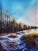 Pastels Pastels - Snow Path by Bob Northway