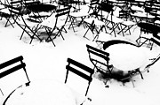 Bryant Park New York Framed Prints - Snow Picnic Framed Print by Diana Angstadt