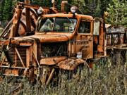 Ron Roberts Photography Prints Framed Prints - Snow Plow Framed Print by Ron Roberts
