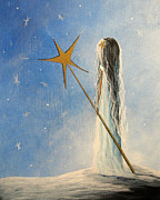 Staff Paintings - Snow Queen by Shawna Erback by Shawna Erback