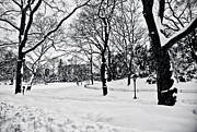 New York City Prints - Snow Scene  Print by Madeline Ellis