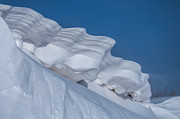 Snow Drifts Prints - Snow Sculpture Print by Jim McCain