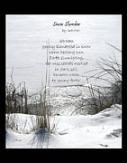 Slumber Digital Art Posters - Snow Slumber Poem Poster by Gretchen Wrede