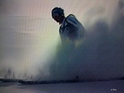 Winter Sports Pastels - Snow Spray 6 by George Pedro