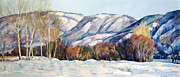 Landscape Mixed Media Prints - Snow Print by Stoiko Donev