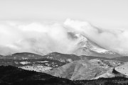 Mount Meeker Framed Prints - Snow Storm on the twin Peaks Longs and Meeker. Framed Print by James Bo Insogna
