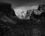 Mariposa County Prints - Snow Storm Yosemite Valley CA Print by Troy Montemayor
