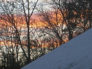 Wite Prints - Snow sunset Print by Sonali Gangane