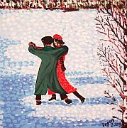 1513 Prints - Snow Tango Print by Alan Hogan