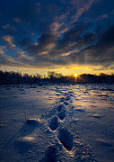 Geographic Prints - Snow Trek Print by Phil Koch