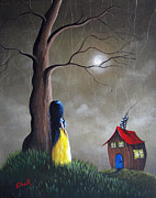 Surreal Landscape Painting Metal Prints - Snow White by Shawna Erback Metal Print by Shawna Erback