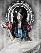 Dark Art Framed Prints - Snow White Framed Print by Judas Art