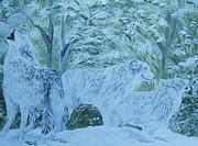 Snow Wolves Print by Eloise Schneider
