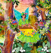 Banquet Digital Art Prints - Snowberry Fairy Yolanda Fairfield Print by Teresa Ascone