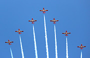 Armed Forces Framed Prints - Snowbirds in Formation Framed Print by Randy Hall