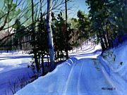 Snowstorm Paintings - Snowbound by Kris Parins